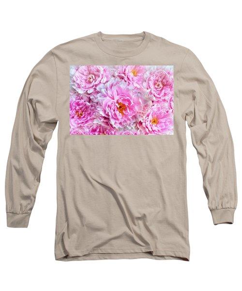 Pink Flowers Everywhere Long Sleeve T-Shirt