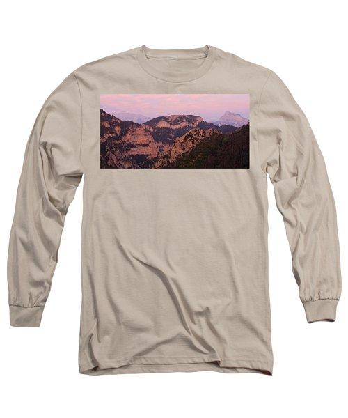 Pink Skies Above Pena Montanesa Long Sleeve T-Shirt