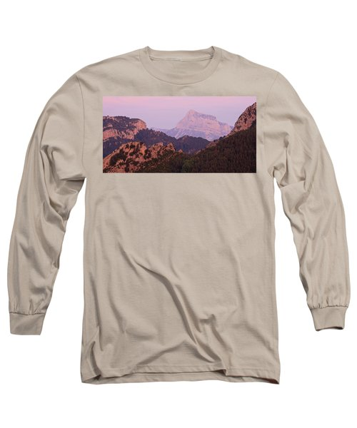 Pink Skies And Alpen Glow In The Anisclo Canyon Long Sleeve T-Shirt