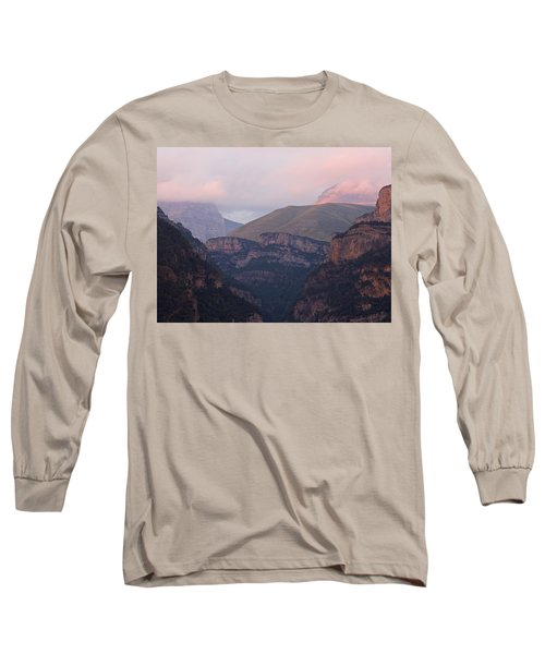 Pink Skies In The Anisclo Canyon Long Sleeve T-Shirt