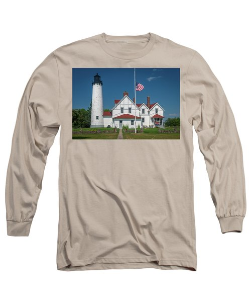 Point Iroquois Lighthouse Long Sleeve T-Shirt
