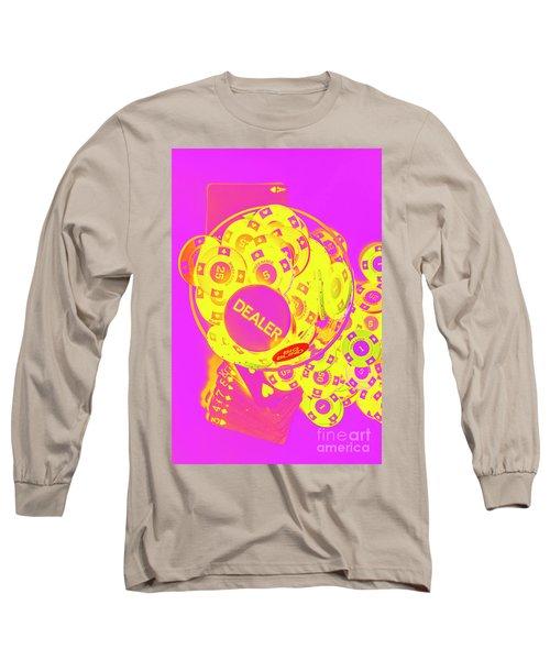 Pop Art Poker Long Sleeve T-Shirt