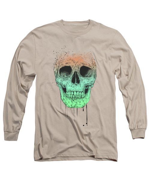 Pop Art Skull Long Sleeve T-Shirt