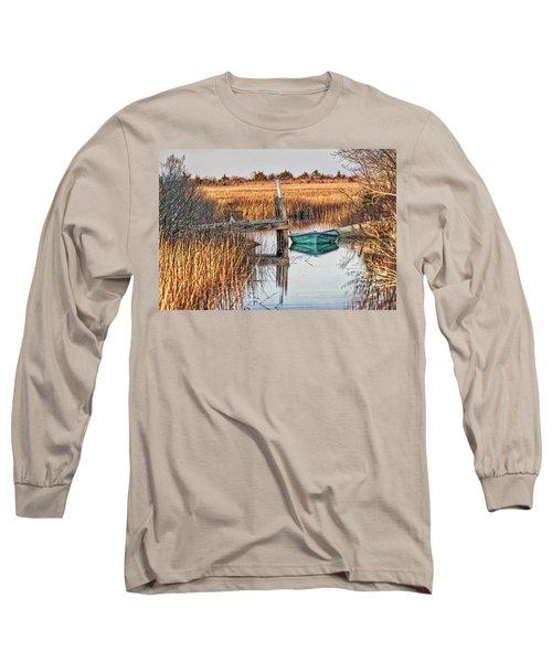 Poquoson Marsh Boat Long Sleeve T-Shirt