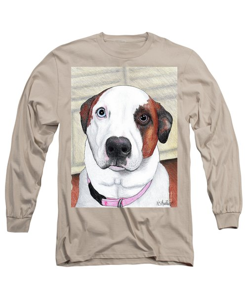 Portrait Of A Dog Named Dave Long Sleeve T-Shirt