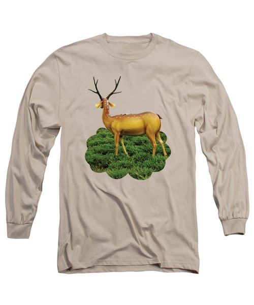 Pretty Deers Playing In The Forest. Long Sleeve T-Shirt