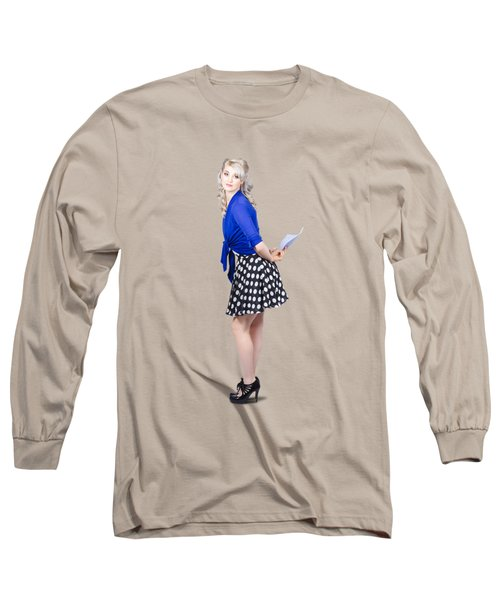 Pretty Housewife With Washing Cloth. Clean Style Long Sleeve T-Shirt