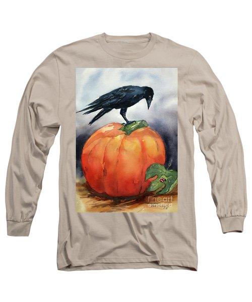 Pumpkin And Crow Long Sleeve T-Shirt