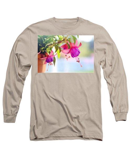 Purple Flowers Long Sleeve T-Shirt