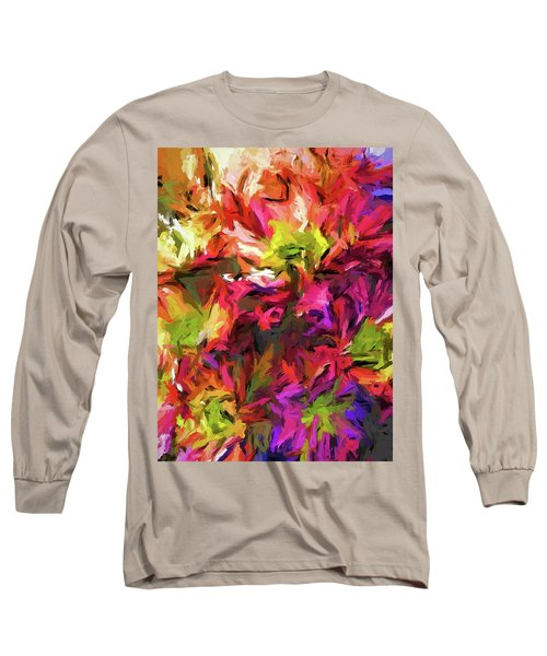Rainbow Flower Rhapsody In Pink And Purple Long Sleeve T-Shirt