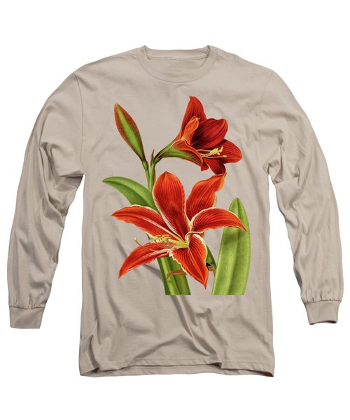 Red Christmas Lily Long Sleeve T-Shirt