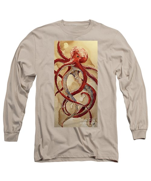 Red Octopus Long Sleeve T-Shirt