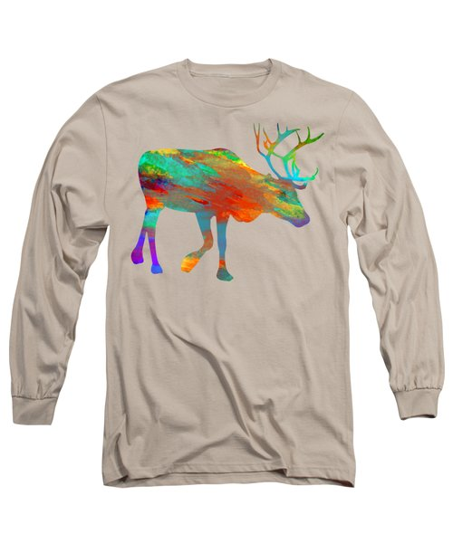 Reindeer Wall Art Long Sleeve T-Shirt