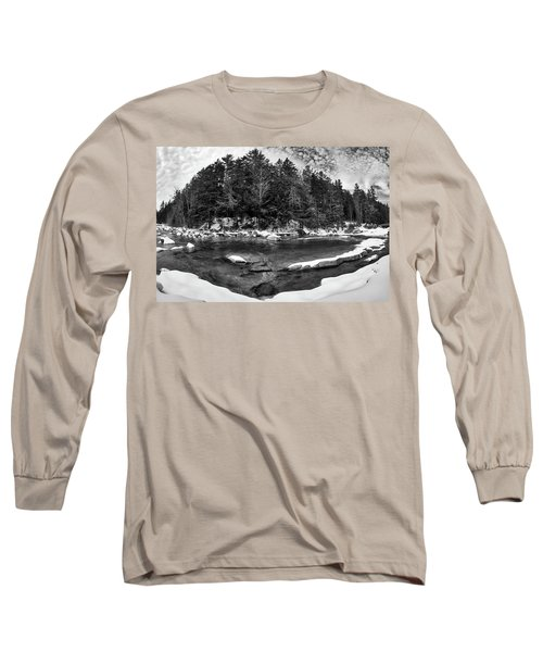 Long Sleeve T-Shirt featuring the photograph River Bend, Rocky Gorge 2 N H by Michael Hubley
