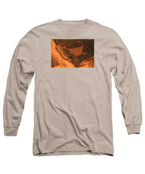 Rock Art At Eye Of The Sun Arch Long Sleeve T-Shirt