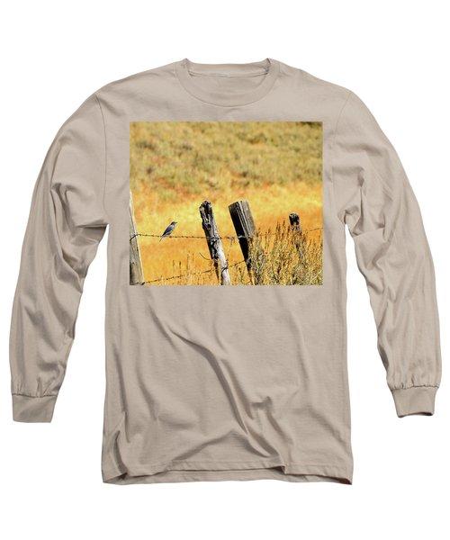 Rocky Mountain Blue Bird Long Sleeve T-Shirt
