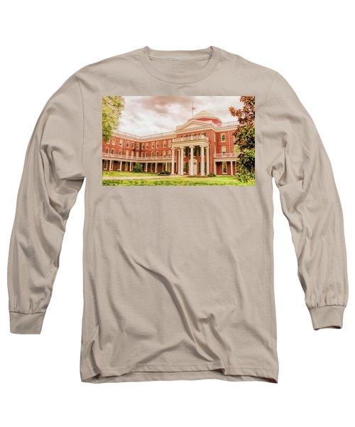 Rotunda Building Longwood University In Farmville Virginia Long Sleeve T-Shirt