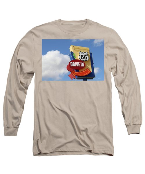 Route 66 Drive-in Sign Long Sleeve T-Shirt