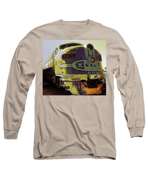 Santa Fe Railroad 347c - Digital Artwork Long Sleeve T-Shirt