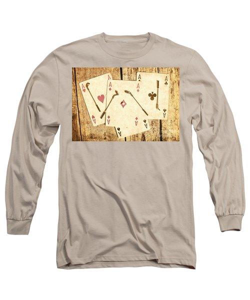 Scorecard Of Aces Long Sleeve T-Shirt