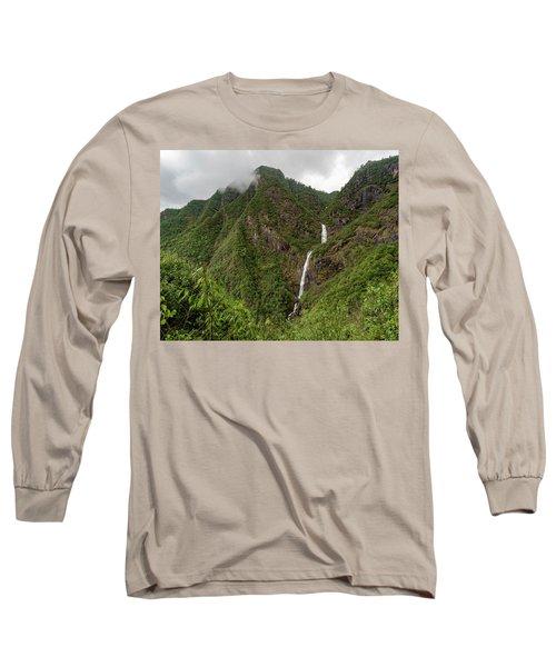 Shenlong Waterfall 8x10 Horizontal Long Sleeve T-Shirt