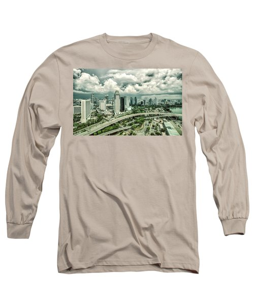 Long Sleeve T-Shirt featuring the photograph Singapore by Chris Cousins
