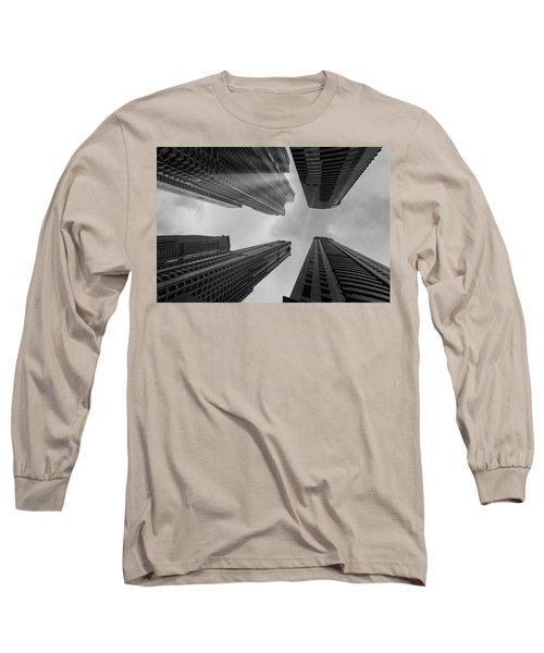 Skyscrapers Reach The Heaven Long Sleeve T-Shirt