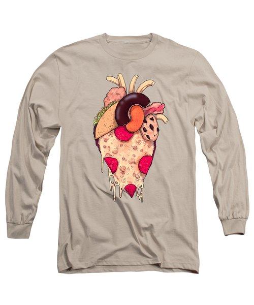 Snack Heart Long Sleeve T-Shirt