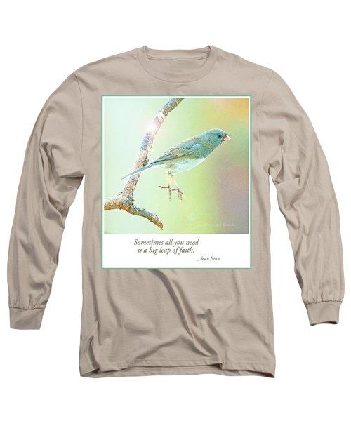 Snowbird Jumps From Tree Branch Long Sleeve T-Shirt