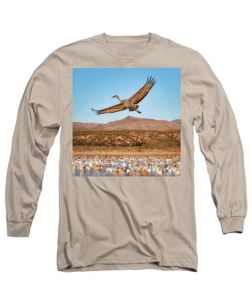 Soaring Sandhill Long Sleeve T-Shirt