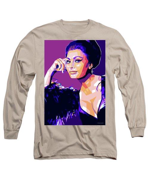 Sophia Loren Pop Art Long Sleeve T-Shirt