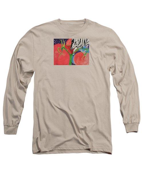 Space Zebra Long Sleeve T-Shirt