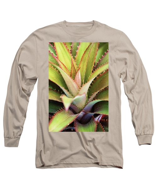 Long Sleeve T-Shirt featuring the photograph Spiny Succulent II by Leda Robertson
