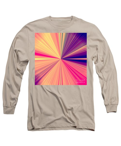 Starburst Light Beams In Abstract Design - Plb457 Long Sleeve T-Shirt