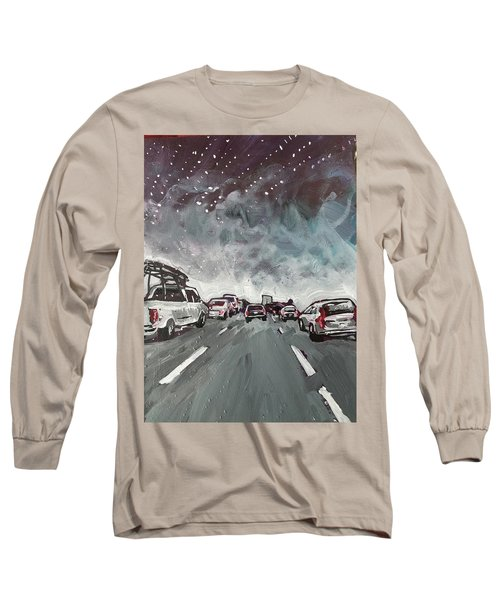 Starry Night Traffic Long Sleeve T-Shirt