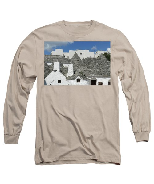 Stone Coned Rooves Of Trulli Houses Long Sleeve T-Shirt