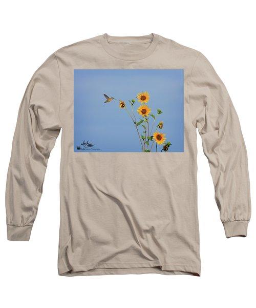 Summer Day Hummingbird Long Sleeve T-Shirt