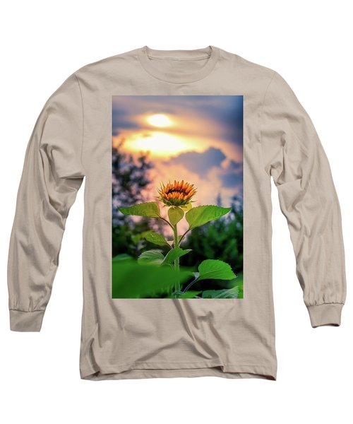 Sunflower Opening To The Light Long Sleeve T-Shirt