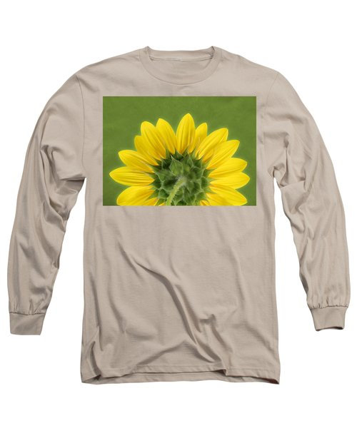 Sunflower Sunrise - Botanical Art Long Sleeve T-Shirt