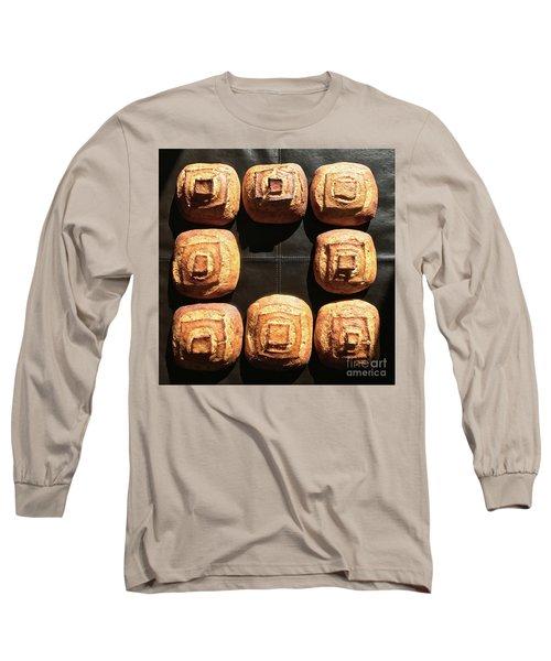 Sunny Sourdough Squares Long Sleeve T-Shirt