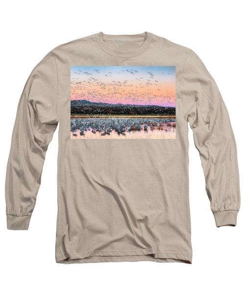 Sunrise At The Crane Pool Long Sleeve T-Shirt