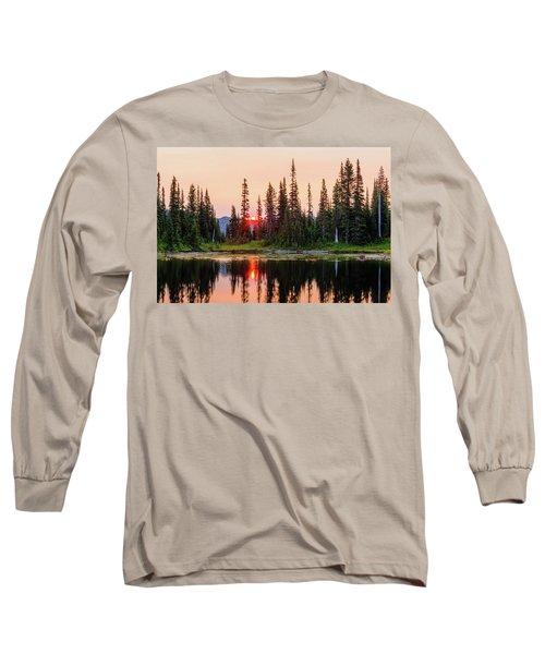 Sunrise From The Reflection Lake Long Sleeve T-Shirt