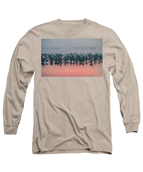 Long Sleeve T-Shirt featuring the photograph Sunrise Over The Hula Valley by Dubi Roman