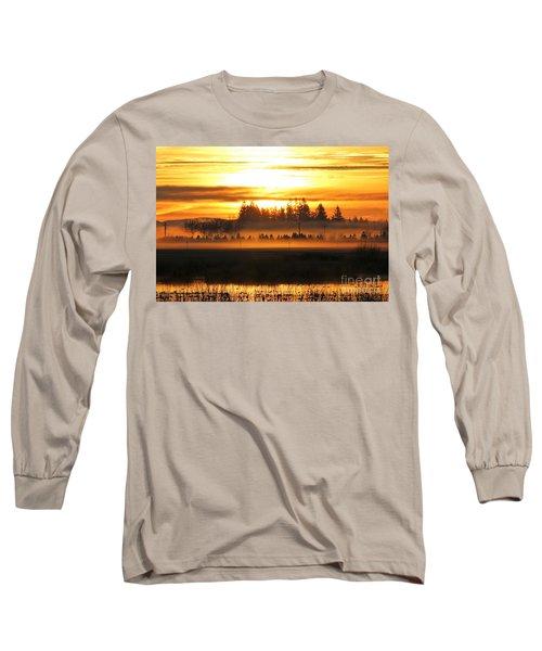 Sunrise Over The Wetlands Long Sleeve T-Shirt