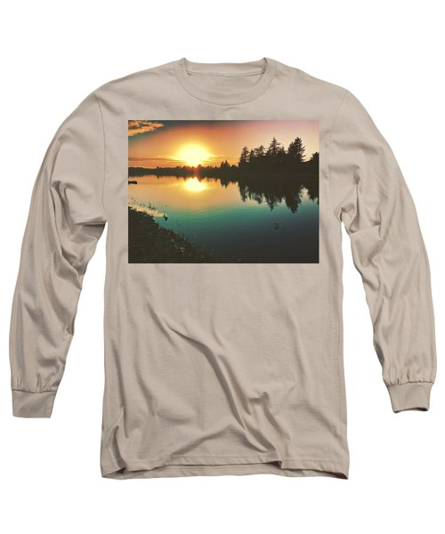 Sunset River Reflections  Long Sleeve T-Shirt