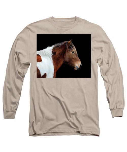 Susi Sole Portrait On Assateague Island Long Sleeve T-Shirt