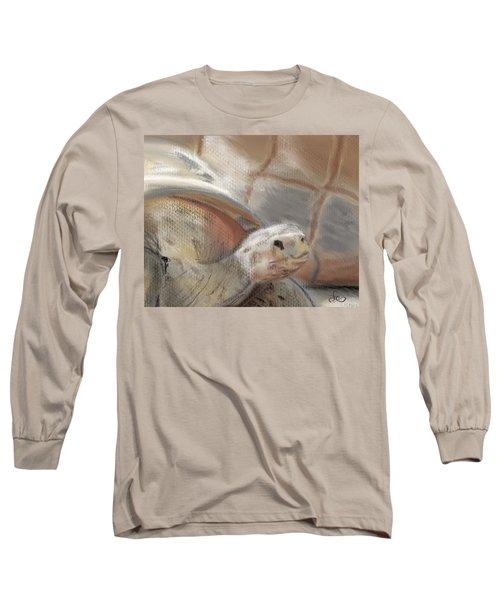 Long Sleeve T-Shirt featuring the digital art Sweet Tortoise by Fe Jones