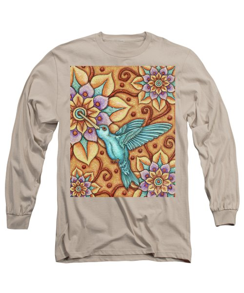 Tapestry Hummingbird Long Sleeve T-Shirt
