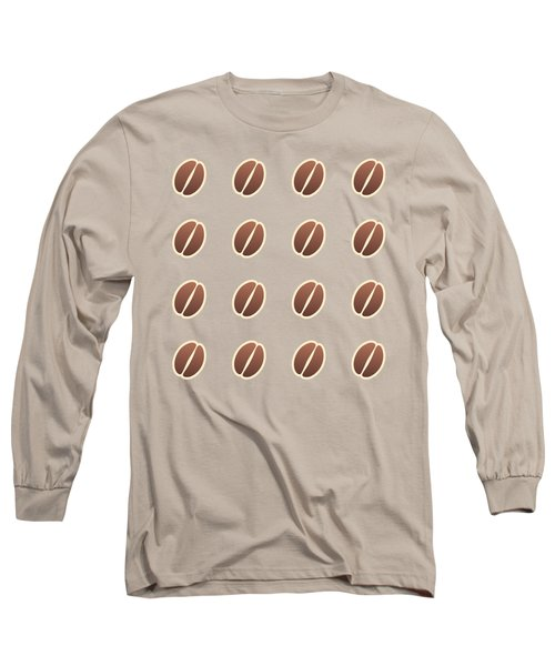 Tasty Coffee Seamless Pattern Long Sleeve T-Shirt
