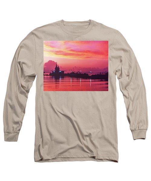 Temple On The Sea Long Sleeve T-Shirt